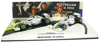 Brawn GP BGP 001 2009 No.22 + No.23