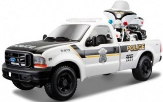 Ford F-350 Super Duty Pick-up 1999 Police + H-D FLHTPI Electra Glide Police